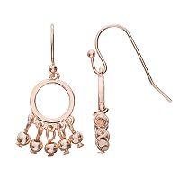 LC Lauren Conrad Shaky Bead Nickel Free Circle Drop Earrings