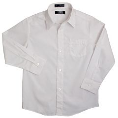Boys 8-20 Husky French Toast Solid School Uniform Dress Shirt.