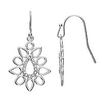 LC Lauren Conrad Openwork Cluster Nickel Free Teardrop Earrings