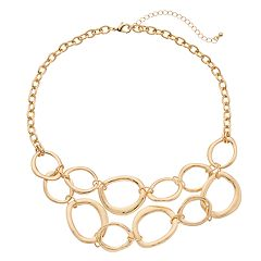 Oval Link Statement Necklace