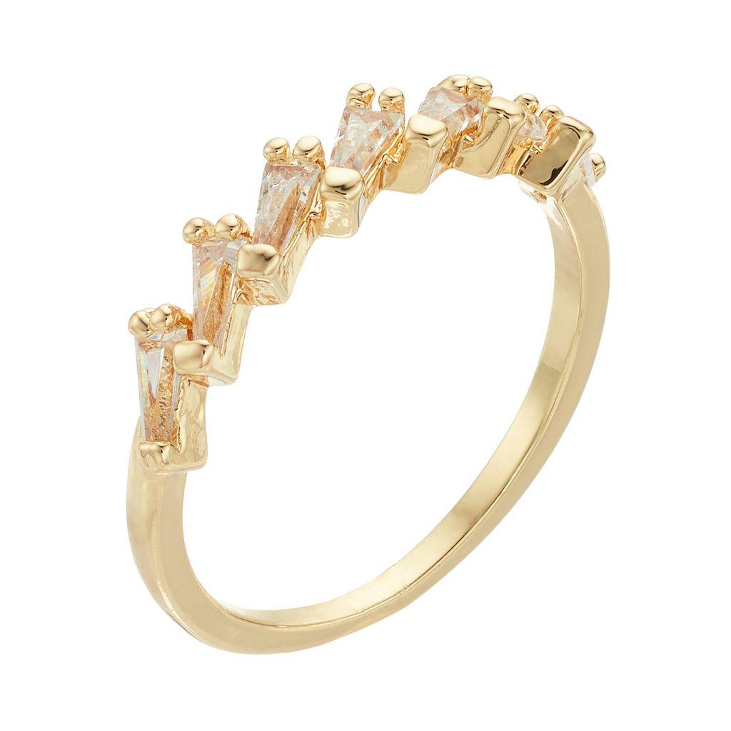 LC Lauren Conrad Cubic Zirconia Baguette Ring