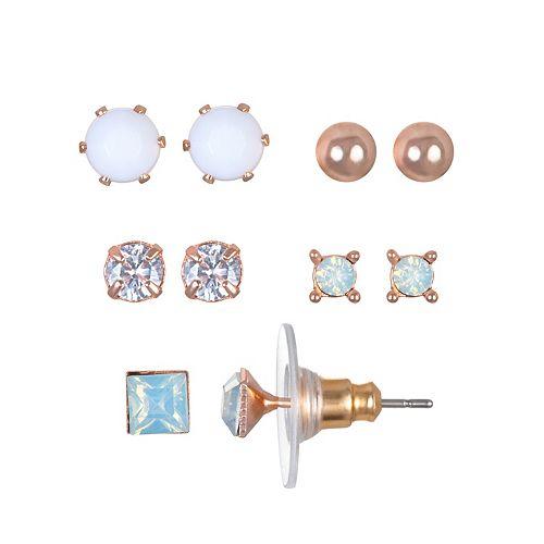 LC Lauren Conrad Solitaire Nickel Free Stud Earring Set