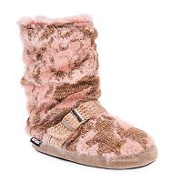 Women's MUK LUKS Lia Knit Boot Slippers