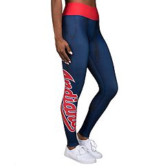 Women's Forever Collectibles Cleveland Indians Marble Wordmark Leggings