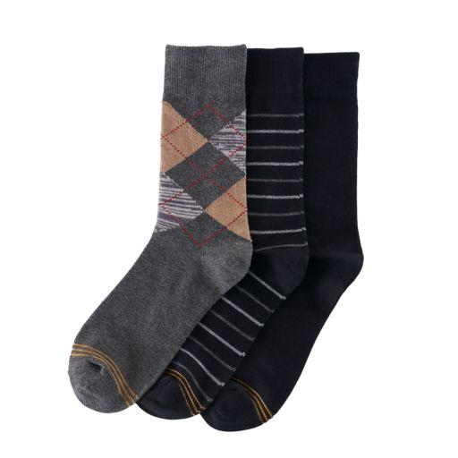Boys GOLDTOE 3-Pack Argyle Socks