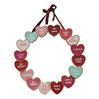 Celebrate Valentine's Day Together Heart Wreath