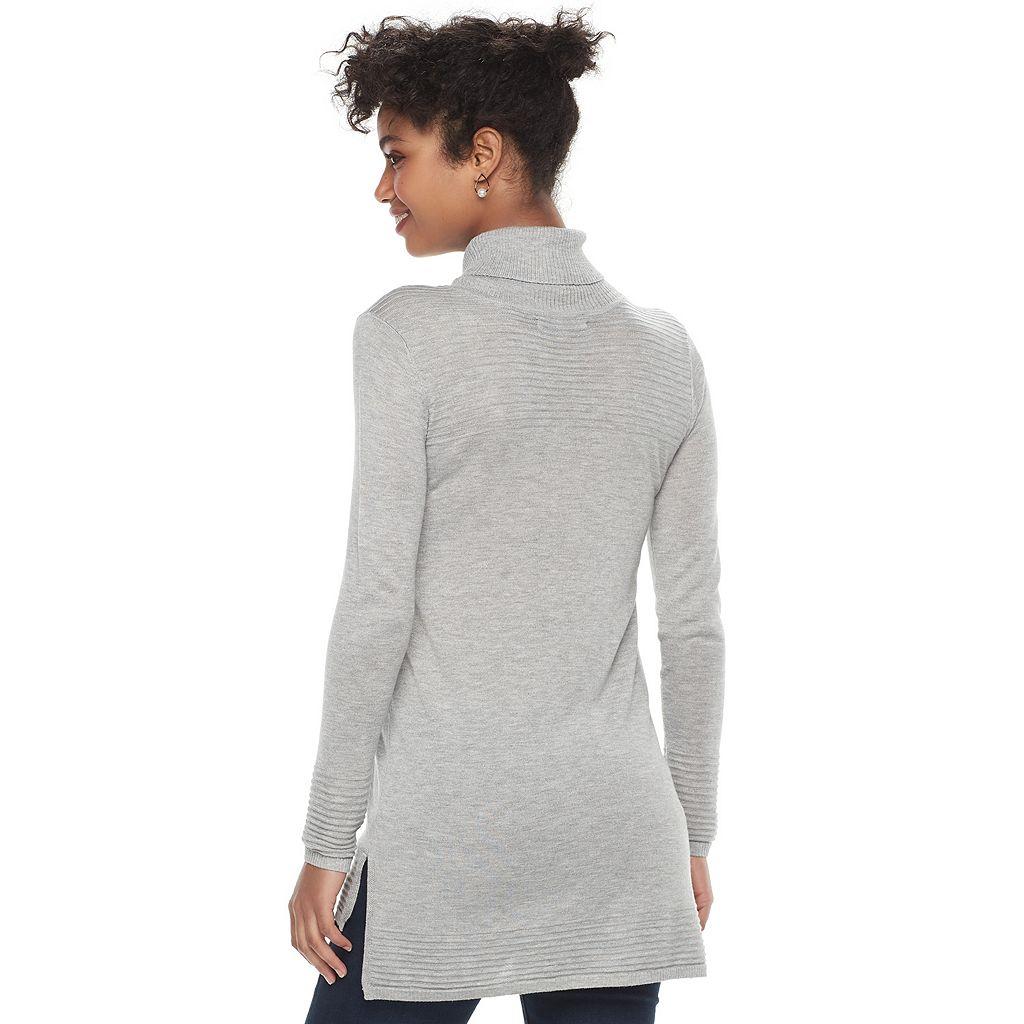 Women's Apt. 9® Textured Hem Turtleneck Sweater