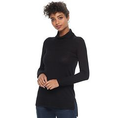 Women's Apt. 9® Textured Hem Turtleneck Sweater