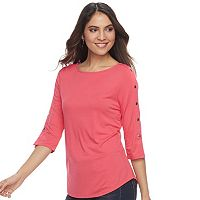 Women's Apt. 9® Button Accent Top
