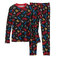 Boys 4-18 Cuddl Duds DC Comics Justice League 2 pc Base Layer Set