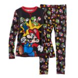 Boys 4-18 Cuddl Duds Super Mario Bros. 2-Piece Base Layer Set
