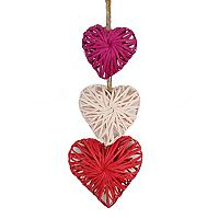 Celebrate Valentine's Day Together Wicker Heart Wall Decor