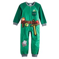 Boys 6-12 Minecraft Emerald Armor Pajamas