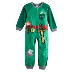 Boys 6-12 Minecraft Emerald Armor Pajamas