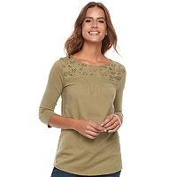 Women's SONOMA Goods for Life™ Eyelet Tee