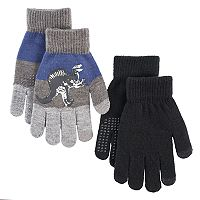 Boys Dinosaur 2-Pack Gloves