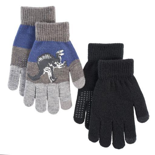 Boys Dinosaur 2-Pack Gloves