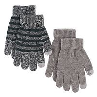 Boys Striped 2-Pack Gloves