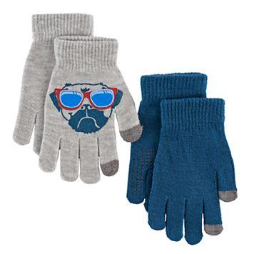 Boys Pug 2-Pack Gloves