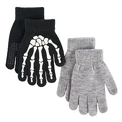 Boys Skeleton 2-Pack Gloves