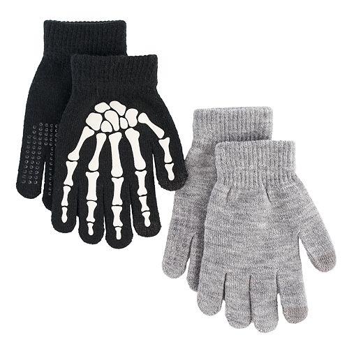 Boys Skeleton 2-Pack Gloves