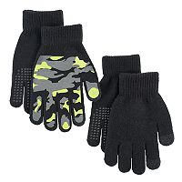 Boys Camouflage 2-Pack Gloves