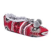 Women's MUK LUKS Knit Ballet Slippers