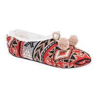 Women's MUK LUKS Knit Ballet Slippers