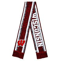 Forever Collectibles Wisconsin Badgers Knit Scarf