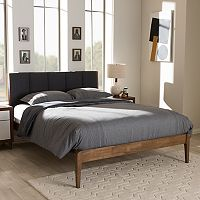 Baxton Studio Ember Mid-Century Upholstered Bed