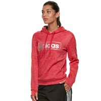 Women's adidas Linear Metallic Graphic Pullover Hoodie