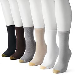 Women's GOLDTOE 6-pk. Solid Soft Crew Socks