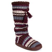 Women's MUK LUKS Gloria Knit Tall Boot Slippers