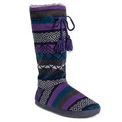 Women's MUK LUKS Gloria Knit Tall Boot Slippers