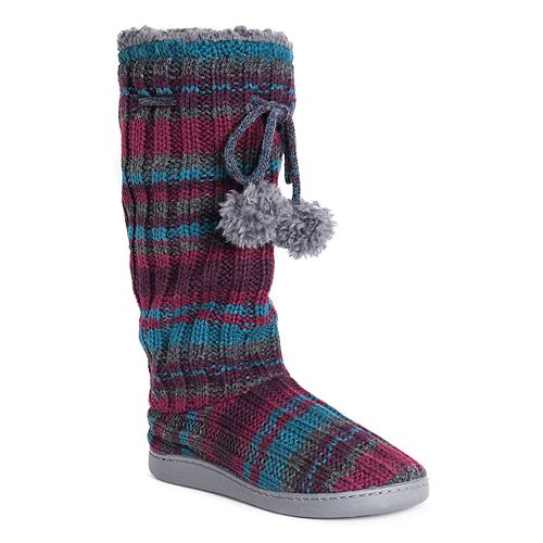 417b0a83783be Women's MUK LUKS Gloria Knit Tall Boot Slippers