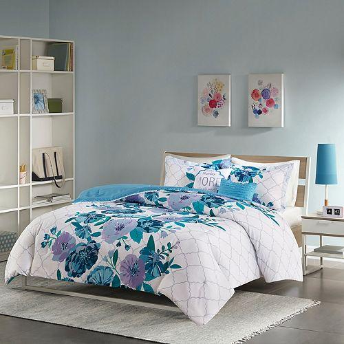 Intelligent Design Floral Comforter Set