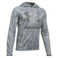 Boys 8-20 Under Armour Big Logo Fleece Pull-Over Hoodie