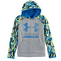 Boys 8-20 Under Armour Print Sleeve Fleece Pull-Over Hoodie