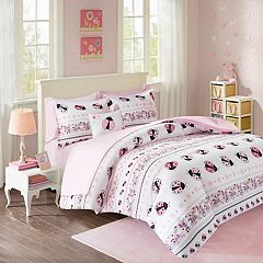 Mi Zone Kids Pink Lady Ladybug Bed Set