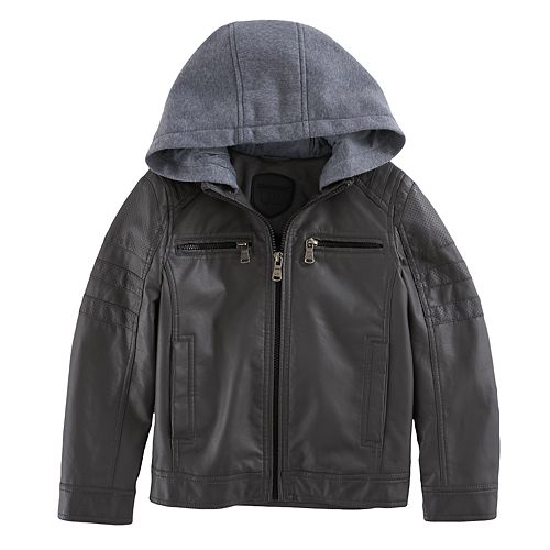 Boys 4-7 Urban Republic Quilted Knit Hood Midweight Jacket