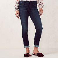 Women's LC Lauren Conrad Cuffed Ankle Skinny Jeans