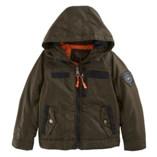 Boys 4-7 Urban Republic Oxford Midweight Hooded Jacket