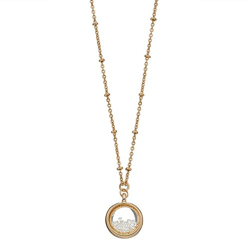 LC Lauren Conrad Birthstone Shaker Pendant Necklace