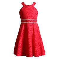 Girls 7-16 Emily West Lace Overlay Skater Dress