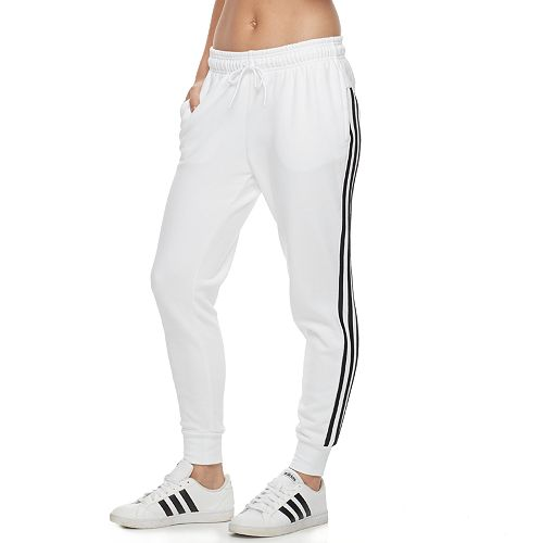 Women s adidas Fleece Striped Jogger Pants a217b2cb0a