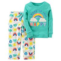 Baby Girl Carter's 2-pc. Top & Fleece Pants Pajama Set