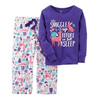 Baby Girl Carter's 2-pc. Top & Fleece Pants Pajama Set