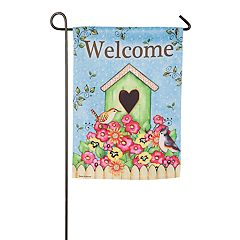 Evergreen 18' x 12.5' 'Welcome' Indoor / Outdoor Garden Flag