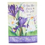 """Evergreen """"Flowers Of The Field"""" Indoor / Outdoor Garden Flag"""