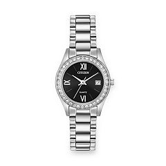 Citizen Women's Crystal Stainless Steel Watch - EU2680-52F